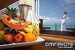 hotel room fruit plate