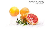 blood oranges with water