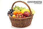 red green yellow fruit basket