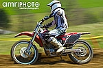 motocross biker with motion blur