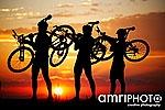 mountainbike sunset