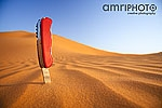 penknife in desert