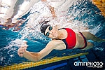 female swimmer close
