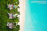 Strand Malediven Luftaufnahme